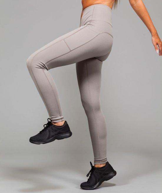 4cd9aaff25a Marrald High Waist Pocket Sportlegging | Licht Grijs - L dames yoga fitness