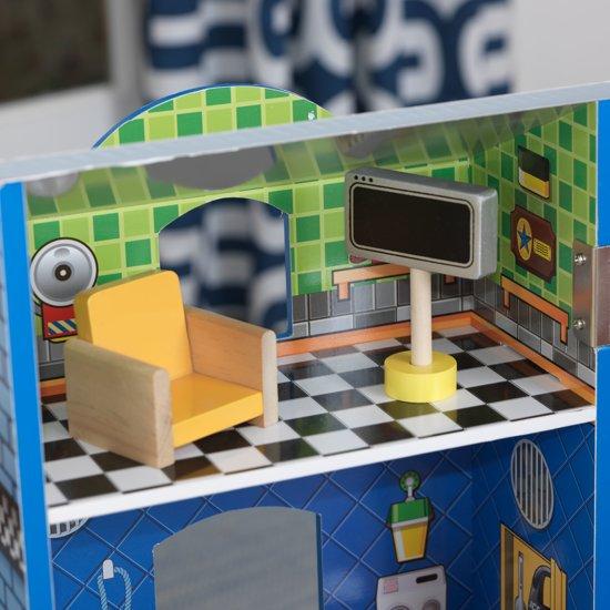 KidKraft Everyday Heroes houten speelset brandweerkazerne en politiebureau