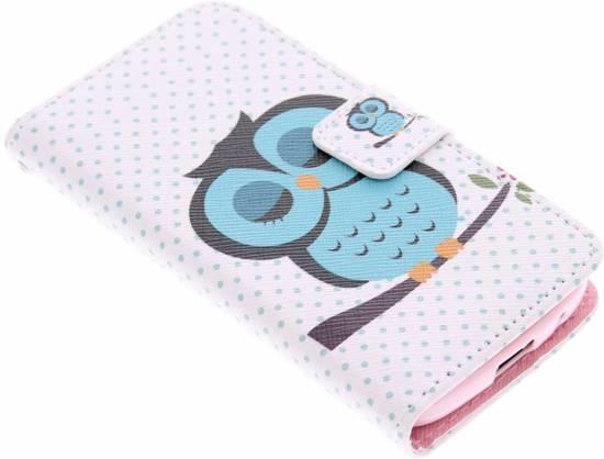 Hiboux Conception Booktype Cas De Tpu Pour La Mini-samsung Galaxy S teghwGoP