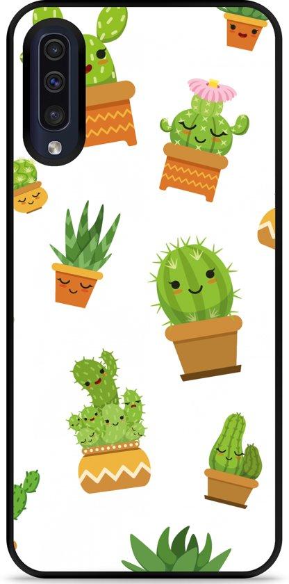 Galaxy A30s Hardcase hoesje Happy Cactus