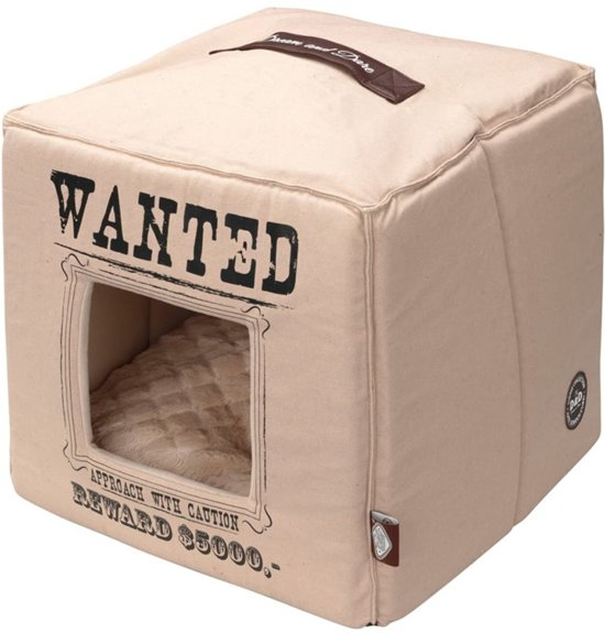 HOME COLLECTION WANTED PETCUBE 40X40X40CM BEIGE