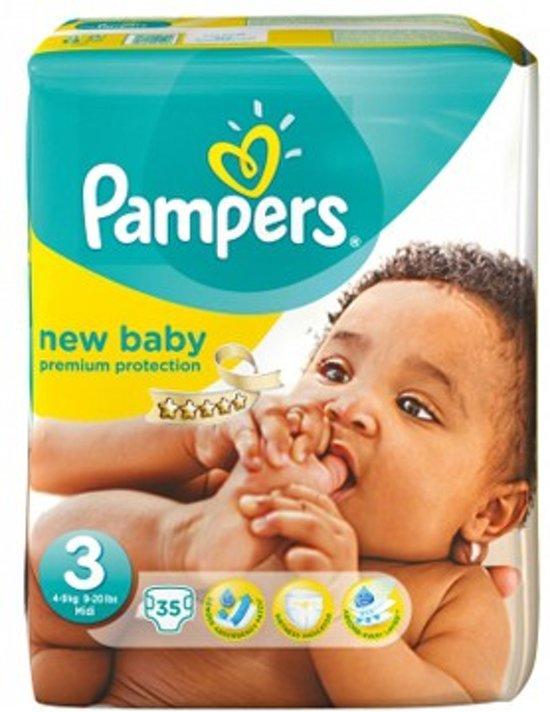 Pampers Baby luier New Baby Maat 3 - 66 luiers in het pak + gratis Postdrogist opzetborstels for kids