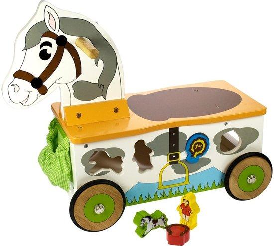 BigJigs Loopwagen Sorteer Paard