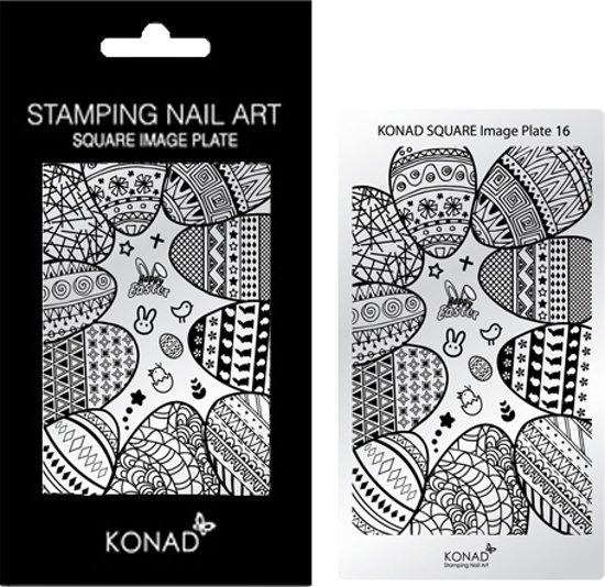 Bol Konad Square Image Plate 16 Met 19 Stamping Nail Art