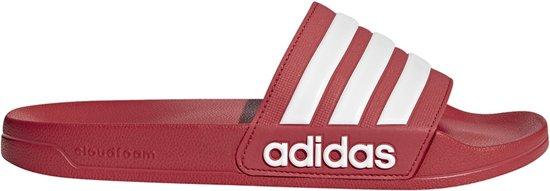 Adidas Adilette Cloudfoam Slippers Rood/wit