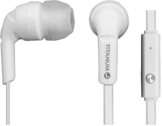 Titanum Koptelefoon met Microfoon wit