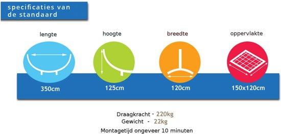 Potenza Grande- Tweepersoons hangmatstandaard /2-persoons hangmat standaard ( zwart)