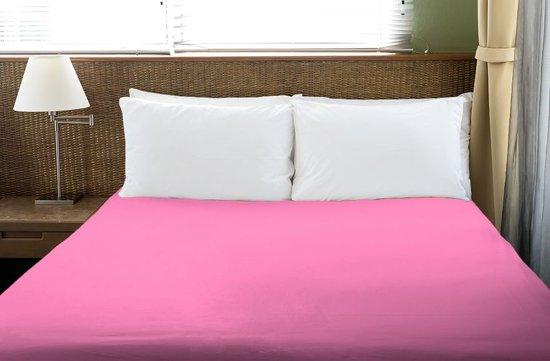 Hoeslaken 200x220 cm donker roze