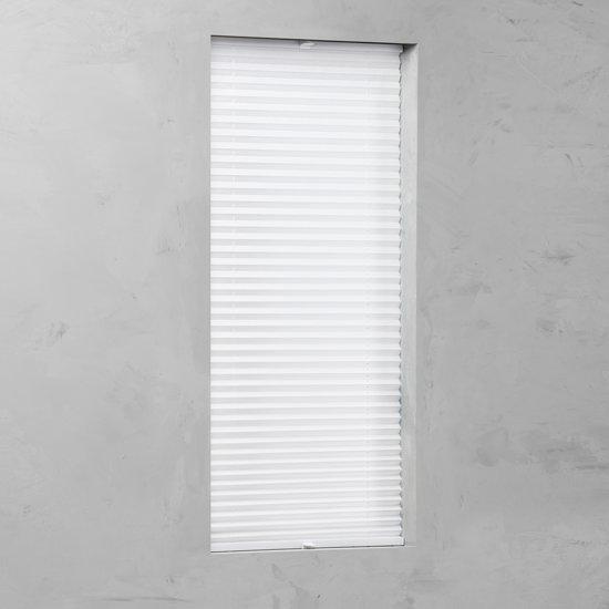 Plissé met zijgeleiding Crushed White - 75x220 cm