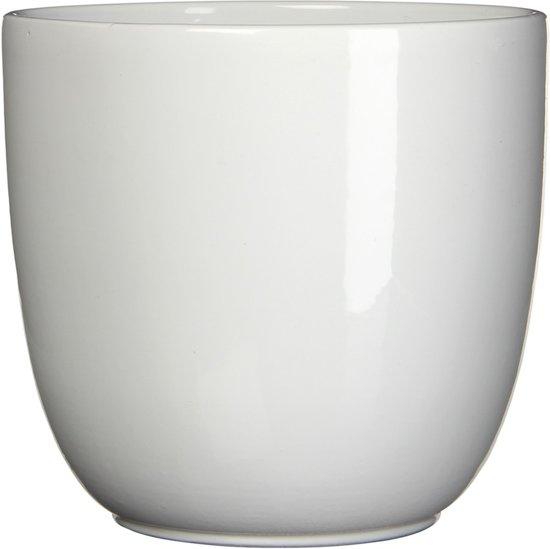 2 stuks Pot rond es/17 tusca 18.5 x 19.5 cm wit