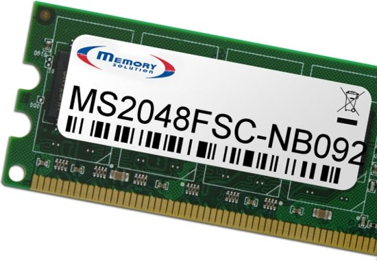 Memory Solution MS2048FSC-NB092 2GB geheugenmodule