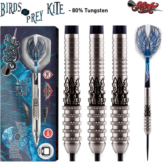 Shot Steeltip Birds of Prey Kite 80% 23 gram Dartpijlen