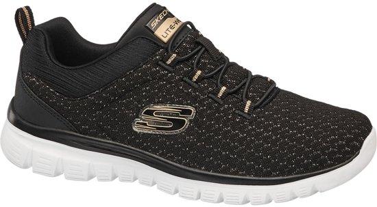 Dames Sneaker Zwarte Skechers Memory Maat 38 Foam 8B6Cw