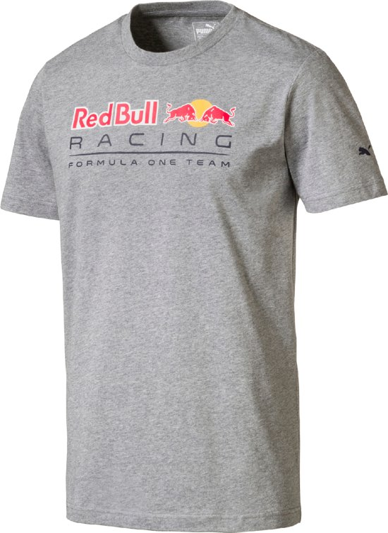 PUMA Red Bull Racing Logo Tee Shirt Heren - Medium Gray Heather