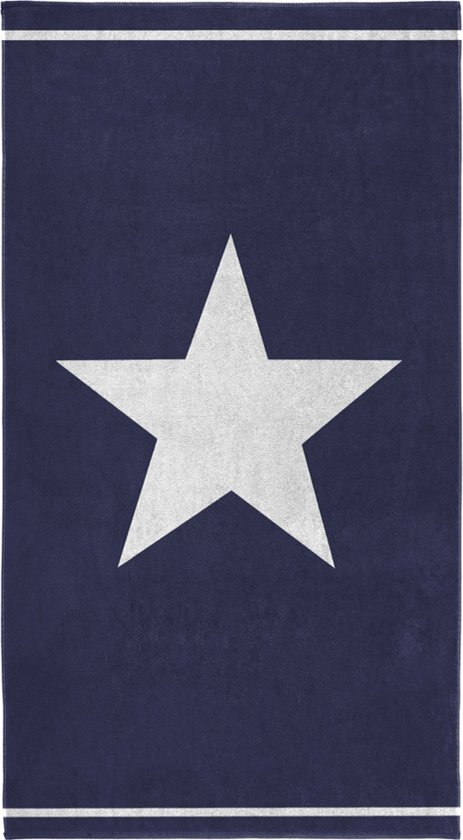 Seahorse Star - Strandlaken - Blue - 100 x 180 cm