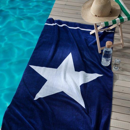Seahorse Star strandlaken - 100x180 cm - Blue