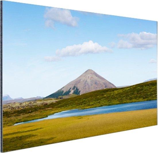 Vulkanisch landschap in IJsland Aluminium 90x60 cm - Foto print op Aluminium (metaal wanddecoratie)