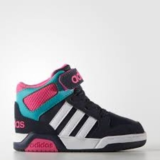 low priced aff9b 260aa Adidas BB9Tis Meisjes Kinderschoen - Navy-Wit-Fuchsia - Maat 27