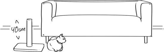 Krabpaal kitty kidz iii bl - 60x4