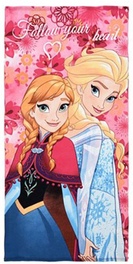 Frozen Elsa/Anna strandlaken 70 x 140 cm - multi