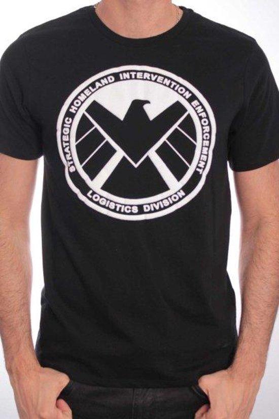 CAPTAIN AMERICA - T-Shirt S.H.I.E.L.D Logo (L)