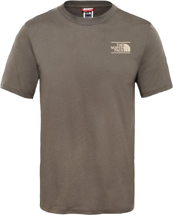 S The North Mountain Experience New Shirt Face Taupe Tee s Heren Green qqUwTSr1