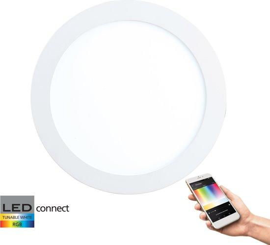 EGLO Connect Fueva-C - Inbouwarmatuur - Wit en gekleurd licht - Ø170 - Wit