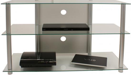 Glazen Tv Meubels : Bol vcm olopa tv meubel transparant aluminium glas