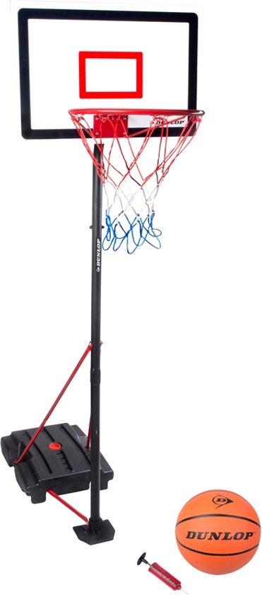 Dunlop 3-delige Basketbalset incl. bal en pomp - max 205cm