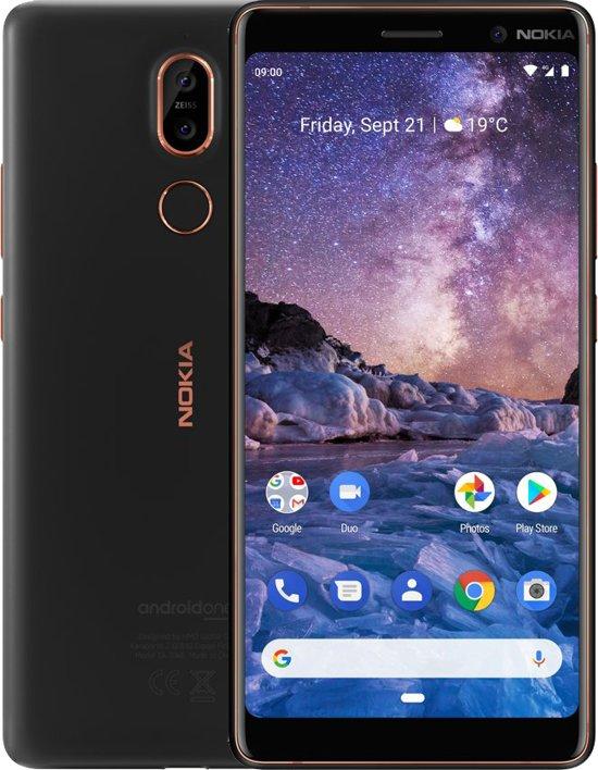 Nokia 7 Plus - 64GB - Dual Sim - Zwart/Koper