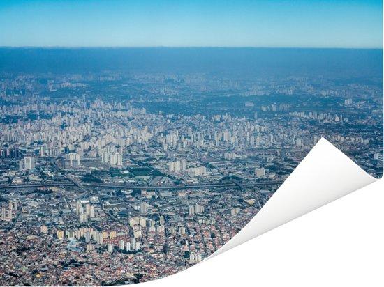 Luchtfoto van het Braziliaanse Guarulhos in de staat São Paulo Poster 160x120 cm - Foto print op Poster (wanddecoratie woonkamer / slaapkamer) XXL / Groot formaat!