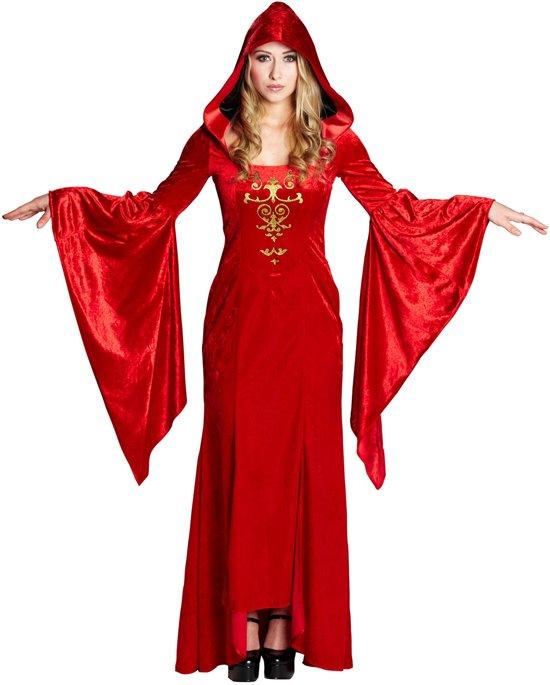 Rood middeleeuws kostuum voor vrouwen - Verkleedkleding