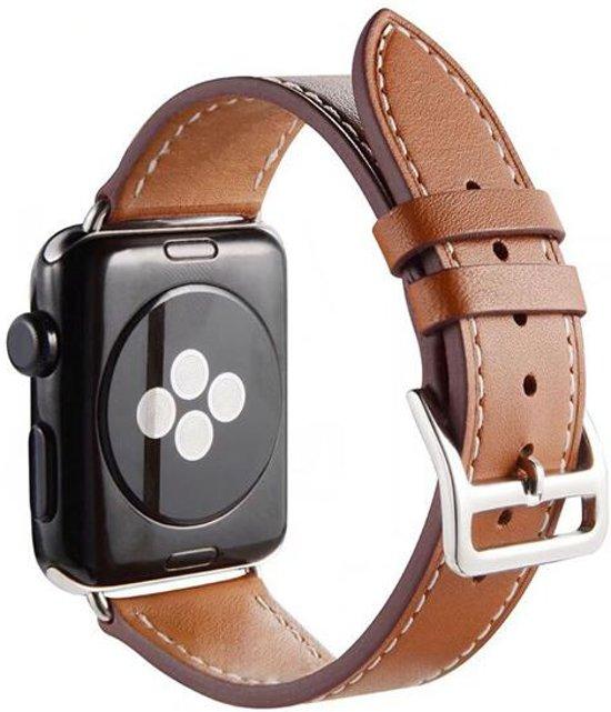 PU Lederen Band Voor Apple Watch Series 1/2/3/4 42 MM /44 MM - iWatch Armband Polsband Strap - Bruin