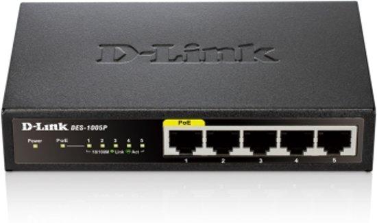 D-Link DES 1005P -Switch