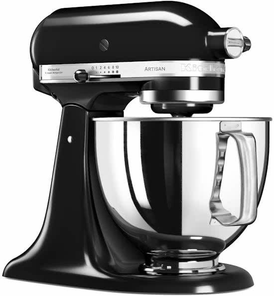 kitchenaid artisan 5ksm125eob keukenmachine onyx zwart. Black Bedroom Furniture Sets. Home Design Ideas