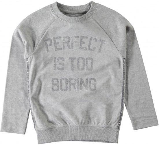 Licht grijze meisjes sweater NITJUBE van het kinderkleding