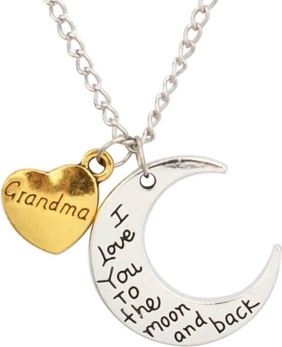 Bolcom Grandma I Love You To The Moon And Back Ketting