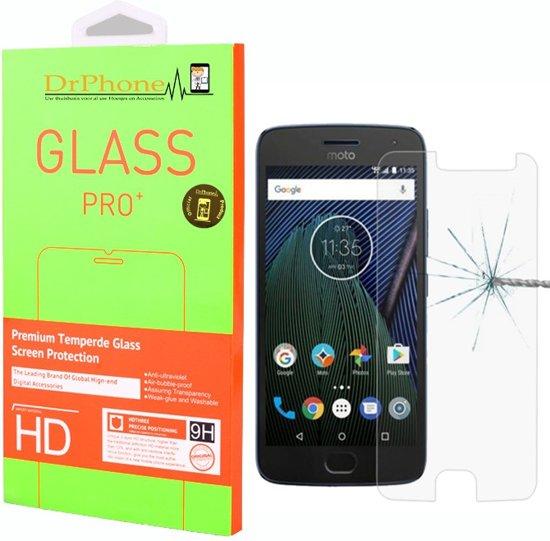 DrPhone Moto G5s Glas - Glazen Screen protector - Tempered Glass 2.5D 9H (0.26mm)