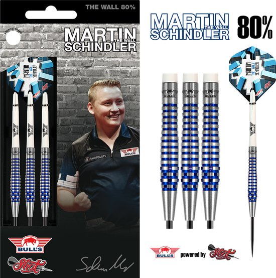 Bull's Steeltip Martin Schindler The Wall 80% PCT Blue 24 gram