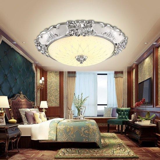 18W 3-kleur dimmen ronde eenvoudige woonkamer gangpad lichten veranda balkon LED Lamp verlichting plafondlamp  Diameter: 40cm (zilver)