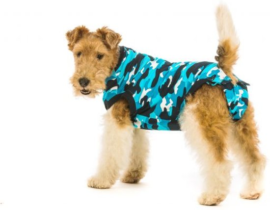Suitical recovery suit hond blauw camouflage s 43-51 cm