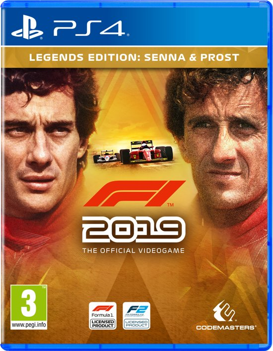 Cover van de game F1 2019 Legends Edition - PS4