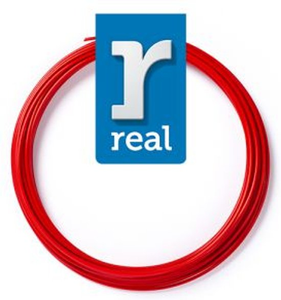 10m High-quality PETG 3D-pen Filament van Real Filament kleur rood