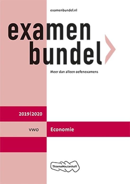 Boek cover Examenbundel vwo Economie 2019/2020 van J.P.M. Blaas (Paperback)