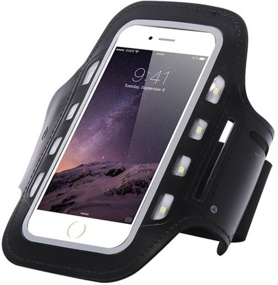 Smartphone LED Verlichting Hardloop Armband / Hardloopband Sportband Lampjes- Iphone 6/6S/7/8/X/XS/XR/Samsung Galaxy