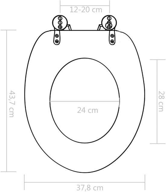 vidaXL Toiletbrillen 2 st met soft-close deksels MDF New York ontwerp