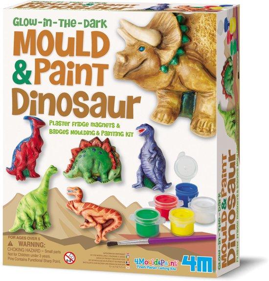 4M Crea Gips Gieten en Verven - Glow Dinosaurussen