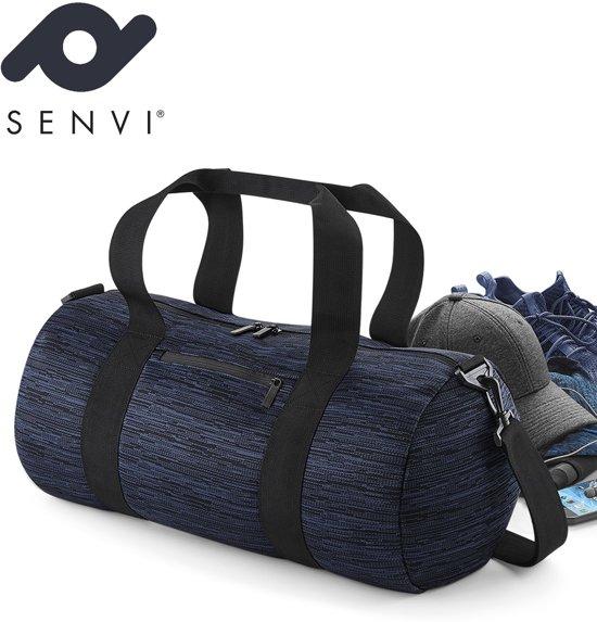 Senvi Fashion Reistas-Weekendtas Kleur Blauw-Zwart