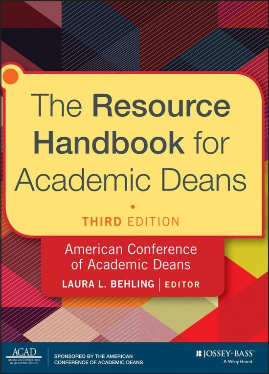 The Resource Handbook for Academic Deans