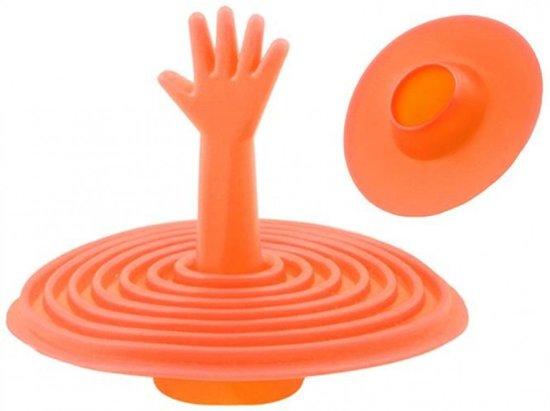 Stop Wasbak Keuken : Bol grappige siliconen gootsteen stop oranje handje